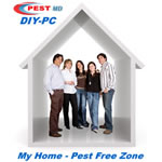 This happy DIY family lives in a pest free zone